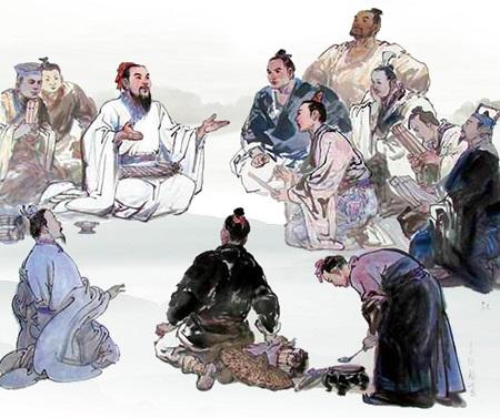 古代帝王祭祀手绘